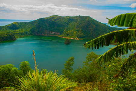 Taal Volcano in Tagaytay, Vulcan Point. Philippines. Luzon Island
