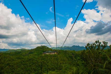 Beautiful bushes and hills, zet lain, island of Bohol. Philippines