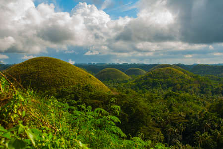 geological formation: Chocolate Hills, Bohol Island, Philippines Southeast Asia