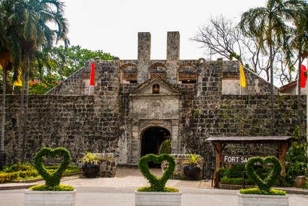 Old Fort San Pedro in Cebu, Philippines. Bush heart