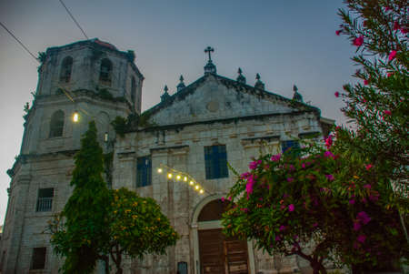 Our Lady of the Immaculate Conception catholic Church at Oslob in Sebu, Philippines in the evening