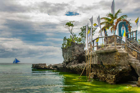 Willys Rock, situated on the famous White Beach, Boracay Island, Philippines