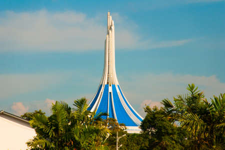 City hall on the background of blue sky.Kuching, Borneo, Sarawak, Malaysia Stock Photo