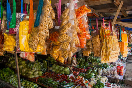 The traditional Asian market with food. Malaysia