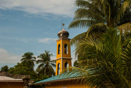 Traditional mosque in the village, Borneo island, Sabah. Malaysia
