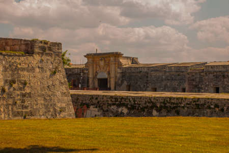 Fortaleza de San Carlos de La Cabana, Fort of Saint Charles entrance. Located on the elevated eastern side of the harbor entrance to Havana.