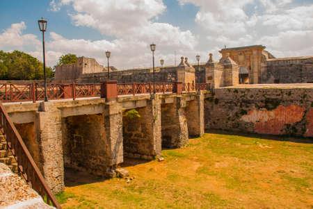 Fortaleza de San Carlos de La Cabana, Fort of Saint Charles entrance. Located on the elevated eastern side of the harbor entrance to Havana.