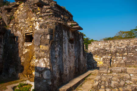 Palenque-the remains of an ancient Mayan civilization, well-preserved in the Selva of the southern state of Chiapas in southern Mexico. Palenque, Chiapas, Mexico