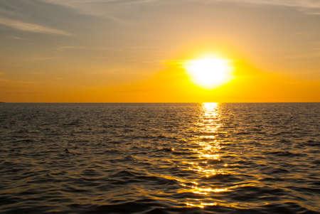 The Malecon Of Campeche. Gulf coast at sunset San Francisco de Campeche, Mexico Stock Photo