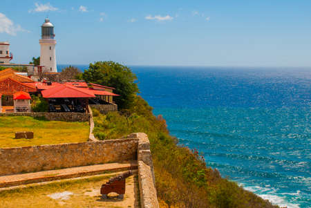 Fort Castillo del Moro, Santiago De Cuba, Cuba: A functioning lighthouse that indicates the entrance to the second largest Bay in Cuba