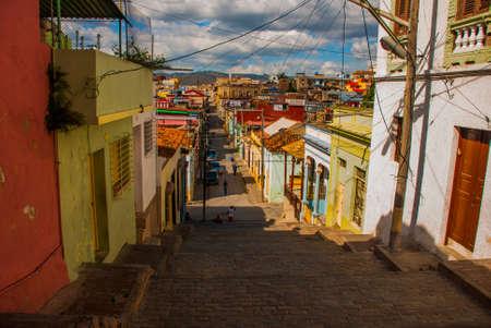 Santiago de Cuba, Cuba: Street-stairs of Padre Pico.