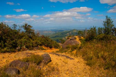 National Park of La Gran Piedra, Big Rock in the Sierra Maestra mountain range near Santiago de Cuba, Cuba Stock Photo