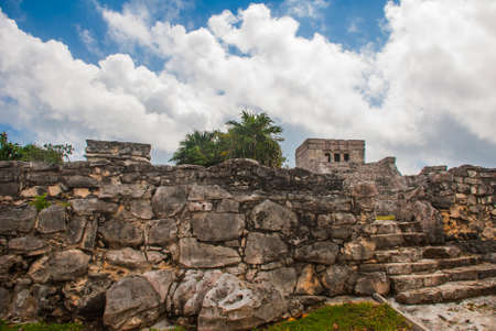 Tulum, Riviera Maya, Yucatan, Mexico: Majestic ruins in Tulum.Tulum is a resort town on Mexicos Caribbean coast.