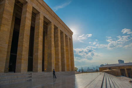 Ankara the capital of Turkey: Anitkabir is the mausoleum of the founder of Turkish Republic, Mustafa Kemal Ataturk.