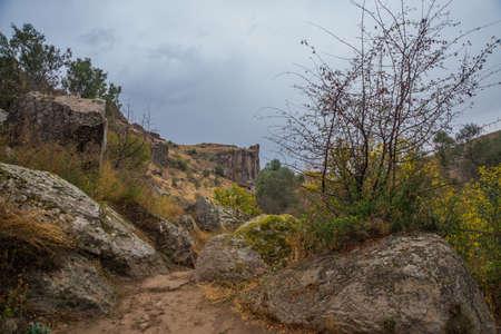 Ihlara Valley in Cappadocia. Stock Photo