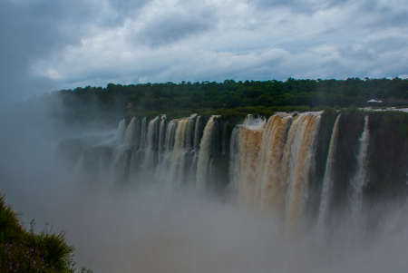 Beautiful view point of Iguazu falls, one of the world's great natural wonders. Peurto Iguazu, Argentina.
