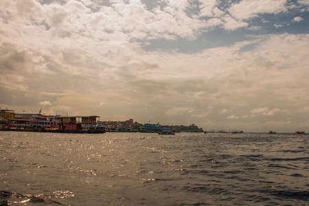 Port of Manaus, Amazon - Brazil. Typical Amazon boats in the port of Manaus Amazonas, South America