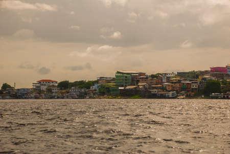 Manaus, Amazonas, Brazil, South America: Port of Manaus, Amazon. Typical Amazon boats in the port of Manaus Amazonas