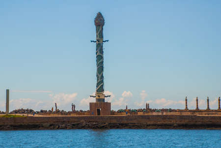 RECIFE, PERNAMBUCO, BRAZIL: Haborside park on a reef featuring unique works by the famous Brazilian sculptor Francisco Brennand. South America
