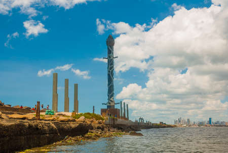 RECIFE, PERNAMBUCO, BRAZIL: Haborside park on a reef featuring unique works by the famous Brazilian sculptor Francisco Brennand. South America Imagens