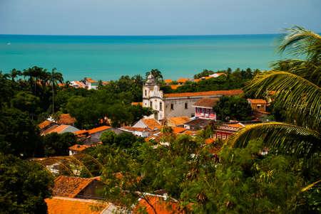 Olinda, Pernambuco, Brazil: A view of Olinda's historic center from the top of Alto da Se hill