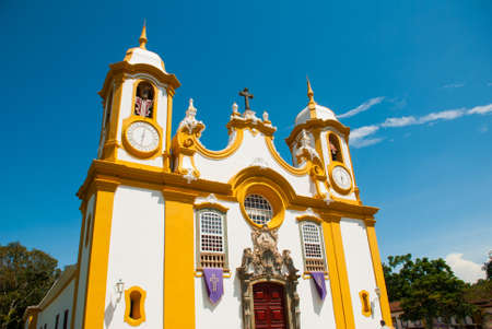Tiradentes, Brazil: The Igreja Matriz de Santo Antonio is the oldest and main Catholic temple in Tiradentes, Brazil, and a great example of Baroque and Rococo architecture and art.
