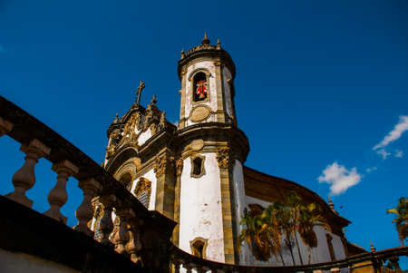 Sao Joao del Rei, Minas Gerais, Brazil: Sao Francisco de Assis church, one of the main church of rural colonial town of Sao Joao del Rei, the state of Minas Gerais Stockfoto - 123829754