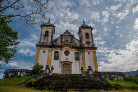 Ouro Preto, Minas Gerais, Brazil: Baroque church. Old beautiful Catholic Church in a popular tourist town Ouro Preto.