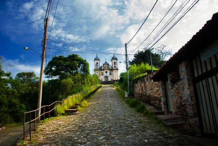 Ouro Preto, Minas Gerais, Brazil: Old beautiful Catholic Church in a popular tourist town Ouro Preto.