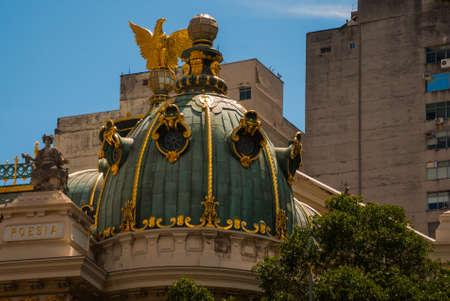 Rio de Janeiro, Brazil, America: The Municipal Theatre in Rio de Janeiro. Brazil Stock Photo