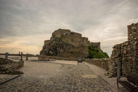 DEVIN, BRATISLAVA, SLOVAKIA: Beautiful landscape with an old fortress. The ruins of Devin Castle near Bratislava in Slovakia