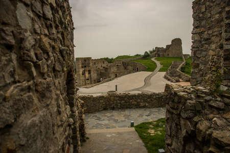 DEVIN, BRATISLAVA, SLOVAKIA : The ruins of Devin Castle near Bratislava in Slovakia 版權商用圖片