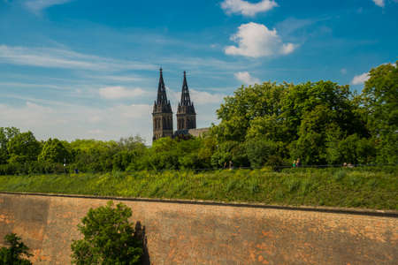 Prague, Czech Republic: Saint Peter and Paul Basilica in Visegrad - Vysehrad-located in Prague 2 district