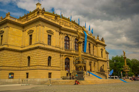 Prague, Czech Republic: View of the Rudolphinum concert hall in Prague. Beautiful building in the historic center of the city