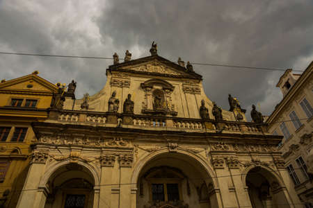 Prague, Bohemia, Czech Republic: Beautiful Catholic Church in the city center