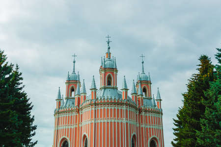 St. PETERSBURG, RUSSIA: The Chesme Church or Church of Saint John the Baptist at Chesme Palace in St. Petersburg, Russia