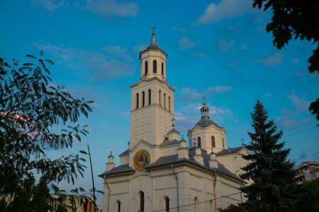 Romania, Deva: Beautiful Orthodox Church in the city Deva