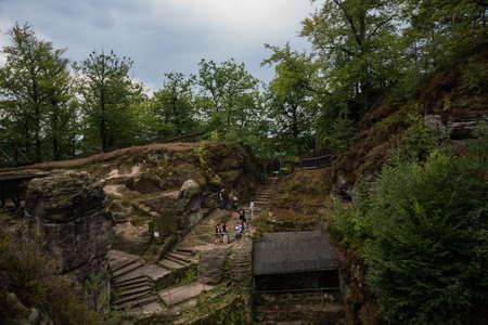 Beautiful at Bastei rocks in Saxon Switzerland, Germany, Kurort Rathen near Dresden