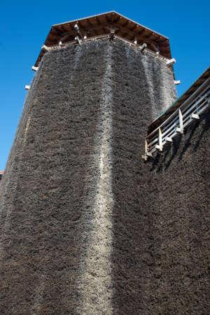 WIELICZKA, POLAND: Graduation tower in Wieliczka, Poland, Europe, near Krakow Salt cooling tower