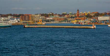 HELSINGBORG, SWEDEN: View of the City Hall Helsingborg in Sweden.