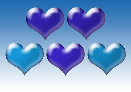 Hearts. Valentines Day abstract background with hearts. Beautiful texture for the background. Love. Banco de Imagens