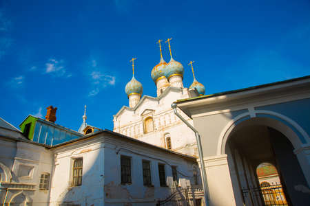 beautiful landscape with a view of the famous Rostov Kremlin complex