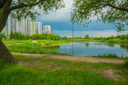 Russia, Saint Petersburg: view of the summer landscape in the Park