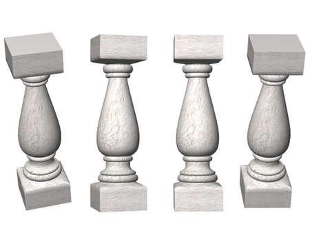 Baljasina die wordt gebruikt voor de vervaardiging van een balustrade. Stockfoto