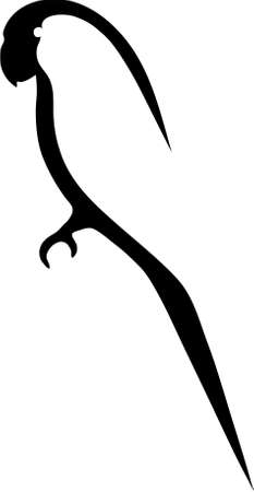 black beak: The simplified contour of a bird. The image is executed in program Illustrator CS2.