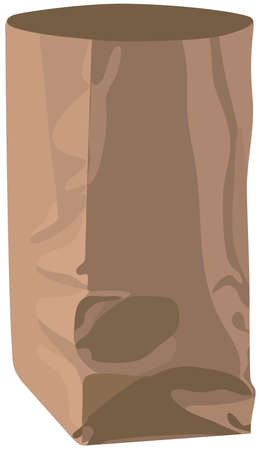 paperbag: The vector image of a paper-bag, empty package on a white background. Illustration