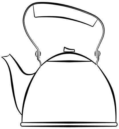 boiling water: Outline of a kettle, for boiling water.