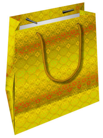 paperbag: The image of a package which is used during holidays.
