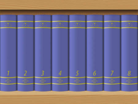 guidebook: The image of the books worth on a shelf.