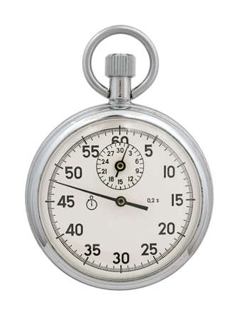 dialplate: Stop-watch on a white background. The image contains a contour for cropping.